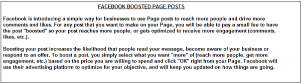 screenshot from Facebook Boosted Page Posts Pricing Survey